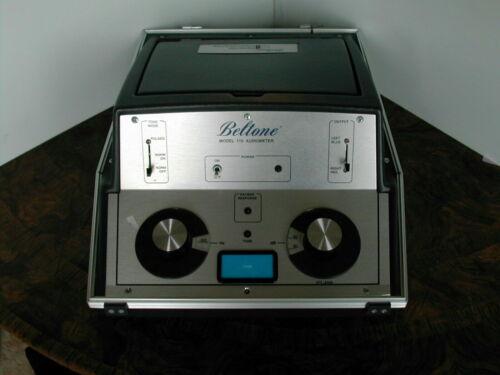Beltone 119 portable Audiometer Big Chrome Knobs Dec 2020 Calibrated !