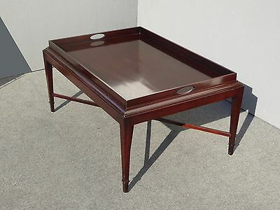 Vintage BAKER Hand Planed Solid Mahogany Tray COFFEE TABLE Retails for $2,999
