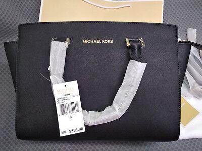 Genuine Women's Michael Kors selma Satchel Saffiano Leather handbag sales hot