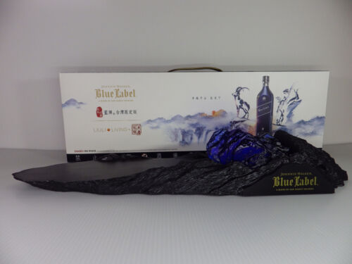 Johnnie Walker Whisky Blue Label Ram Bottles Stand New With Box