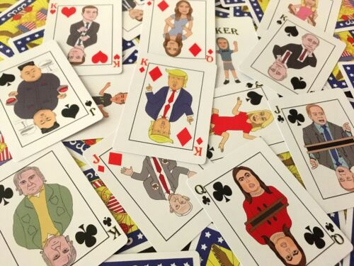 Donald Trump Playing Cards - Trump Administration Cartoon Deck - Great Gift!