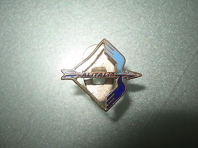 ALITALIA Airline Flugzeug Knopfloch emaillierte Anstecknadel PIN Selten!