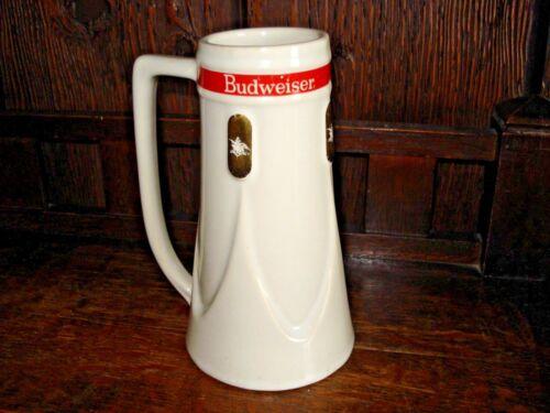 Rare Anheuser Busch Budweiser Pottery Stein-1965