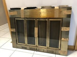 Brass Fireplace Grill With Guard