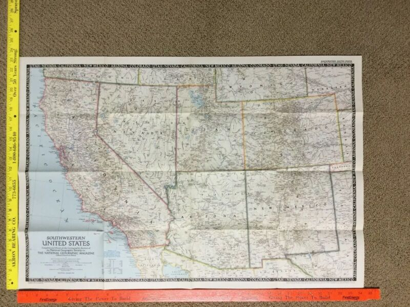 1948 (December) Southwestern United States; National Geographic; Excellent Cond