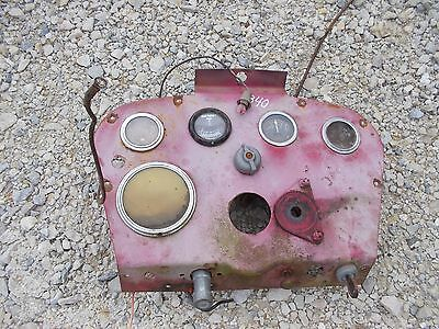 Farmall 340 Rc Tractor Ih Ihc Dash Panel Gauge Holder Key Starter Button