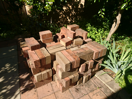 Approx 140 Beige & Red Pavers, $1 each or $100 for the lot
