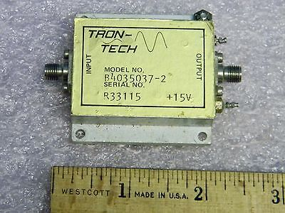 Sma Lo-band Rf Amplifier 10mhz-200mhz 40db Gain Tron-tech B4035037-2