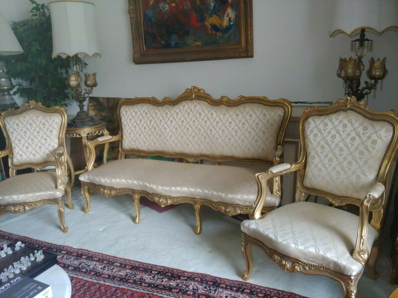 Rare French Louis XV Style Sofa with two chair