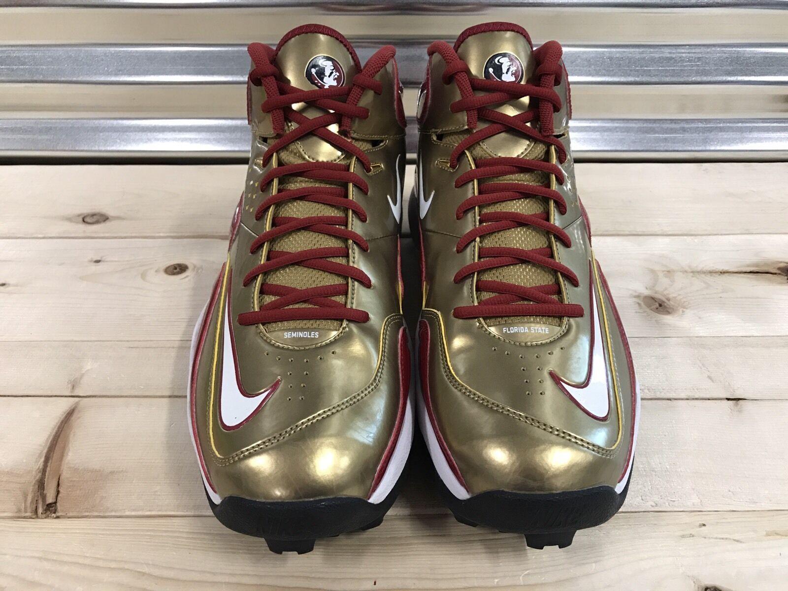 Nike Zoom Merciless Pro Football Cleats Turfs Florida State Seminoles FSU  Sample 5af65c3ba