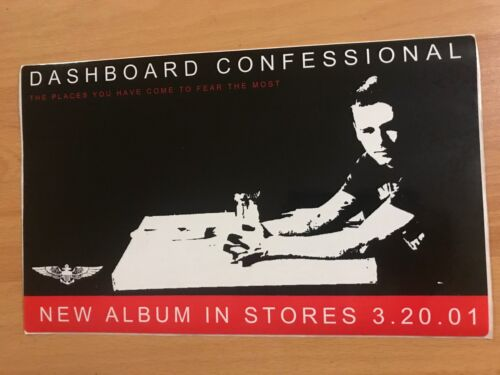 DASHBOARD CONFESSIONAL Chris Carrabba Promo STICKER Vagrant Records Emo Punk FL