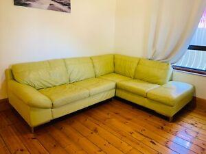 Nick scali genuine leather sofa