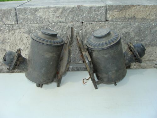 Antique Angle Lamp Co Electrified Railroad Kerosene Oil Wall Lamps Sconces