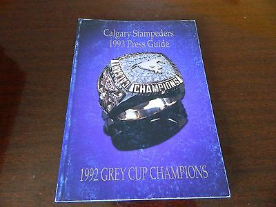 1993 Calgary Stampeders Fact book Guide CFL nice*clean