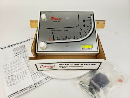 Dwyer Mark II 2 Model 26 Manometer - Oil and all Accessories - Inclined Vertical
