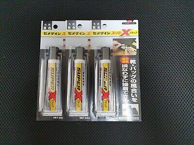 CEMEDINE SUPER-X 8008 Camera, Diving Suit, Glue Adhesive BLACK 20ml (PACK OF 3)