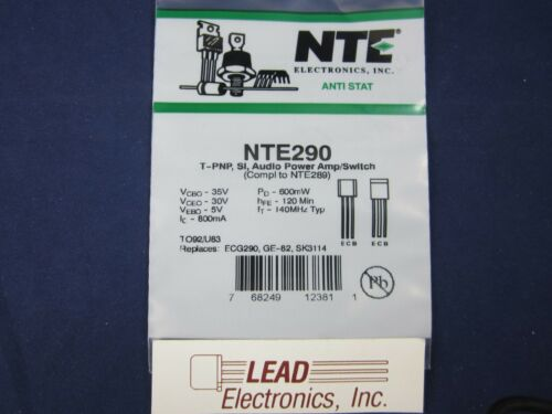 NTE290 Audio Power Amplifier      AUTHORIZED DISTRIBUTOR