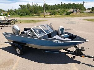 1991 Blue Fin Spectrum Deep and Wide Fishing Boat with 2007 Hond