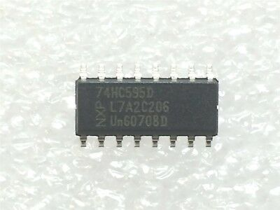 74hc595d Nxp Ic Shift Register 8bit 16sop Rohs 20 Pieces