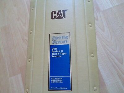 Caterpillar D7r Series Ii Track Tractor Factory Service Manual Aec Abj Agn1-500