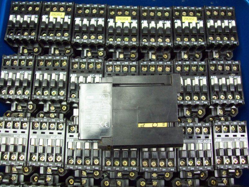 ABB KC40E Contactor 24V Coil 10 AMP 600V