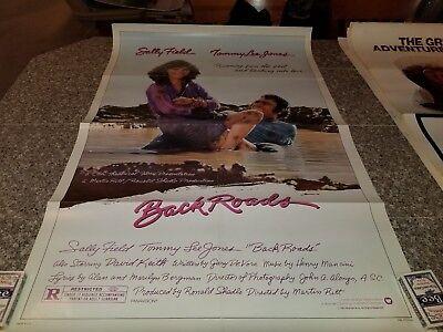 ORIGINAL MOVIE POSTER BACK ROADS 1981 1 SHEET SALLY FIELDS TOMMY LEE JONES