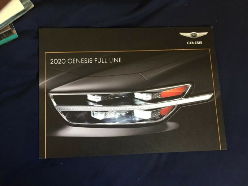 2020 Hyundia Genesis G70, G80 and G90 Color Brochure Catalog Prospekt