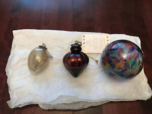 3 Large Christmas Ornaments.