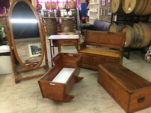 Beautiful Vintage Solid Wood Furniture Take All or Individual.