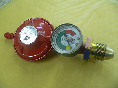 CALOR GAS PROPANE GAS REGULATOR 37 mbar WITH BUILT IN LEVEL GAUGE MOTORAMA HULL