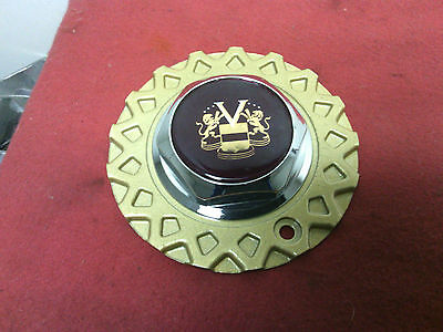 """Vogue Tyres wheel center cap 6""""  Gold mesh flange Red logo #93  New old stock"""
