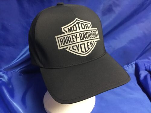 GENUINE HARLEY DAVIDSON Cap Hat SHIELD LOGO Fitted L/XL Polyester BRAND NEW