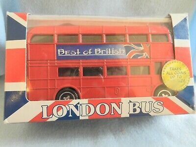 RARE Diecast London Double Decker BANK Bus Best of British Heritage London's