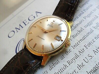 SOLID 18k Gold Vintage 1963 Men's Omega Seamaster 24J Cal. 562 Automatic Watch