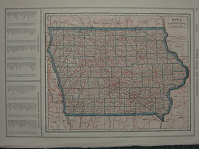 1926 MAP ~ IOWA RINCIPAL CITIES TAMA MADISON SCOTT JEFFERSON
