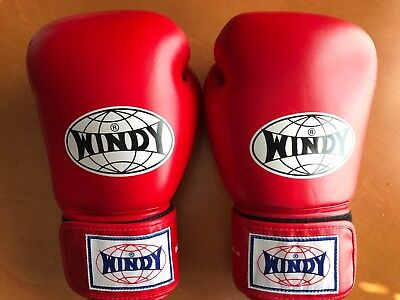 Windy Muay Thai Boxing Gloves Sparring Kickboxing MMA Training BGVH 14 oz. Red](Windy Boxing Gloves)