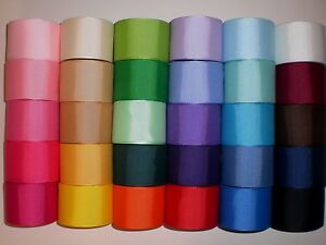 LOT 30 YARDS GROSGRAIN RIBBON SOLID COLORS 1.5