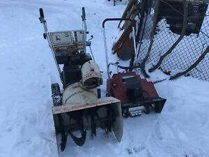 Two snowblowers for sale. For parts or repair.