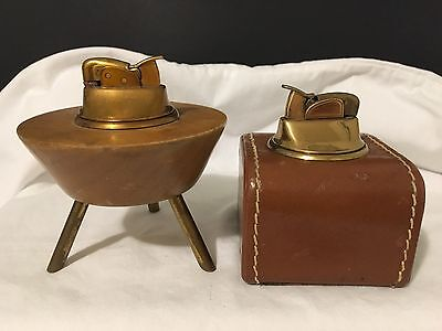 Two VINTAGE Evans Table Lighters