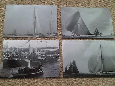Small Job Lot 4 x Yacht Boat Postcard Sized Photographs inc Tower of London