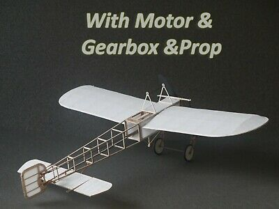 Tony Ray's Laser Cut Balsa Bleriot XI Radio Control Indoor Plane With/Motor Prop