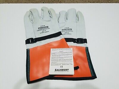 Salisbury Ilpg-5s Leather Protectors Gloves Size 12 14 Inch Length New