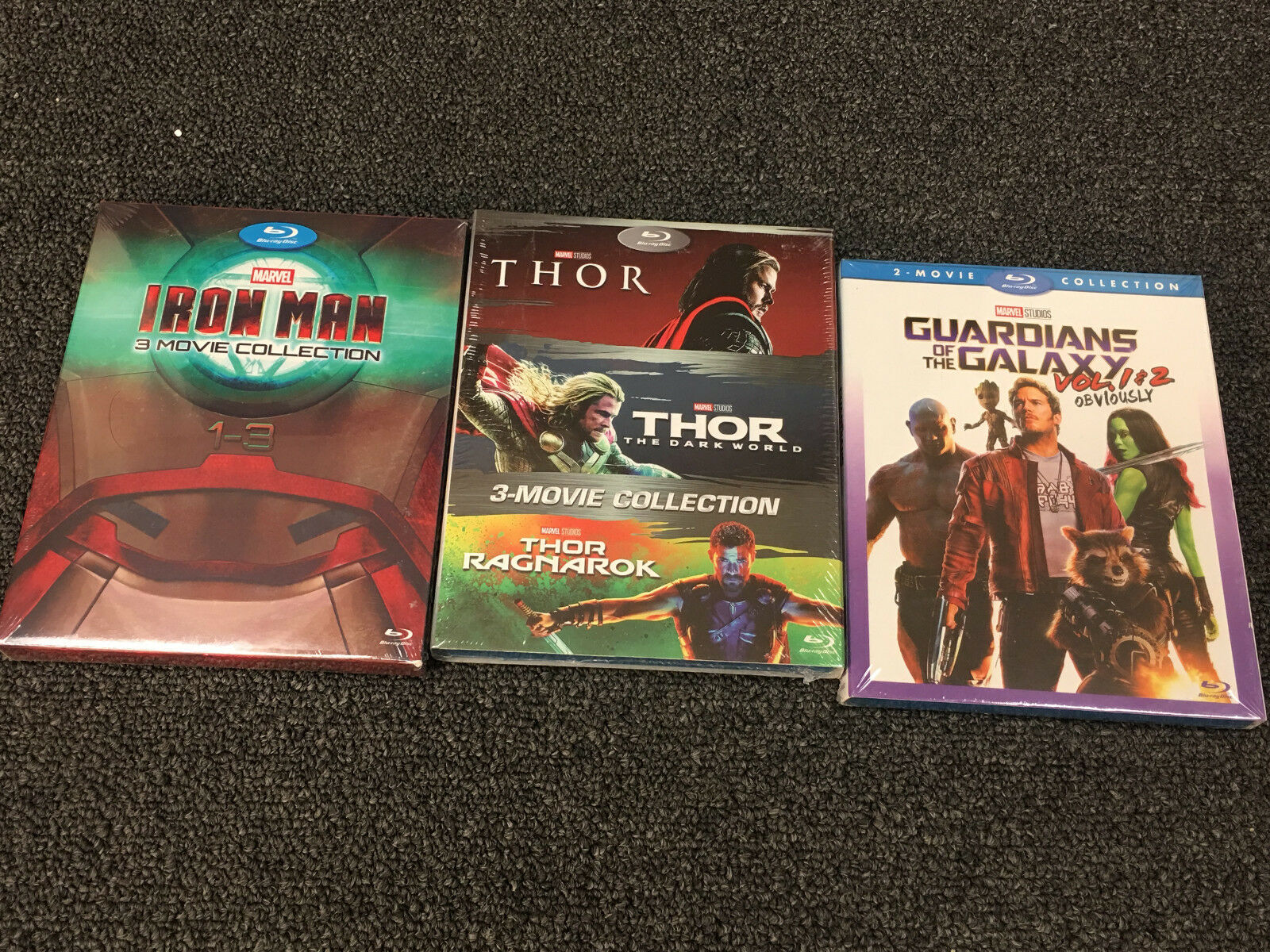 THOR & Guardians of the Galaxy & Iron Man Movie Collections [Blu-Ray Box Set] US