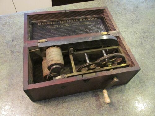 Antique Dickinson Philadelphia Magneto Electric Quackery Medicine Shock Machine