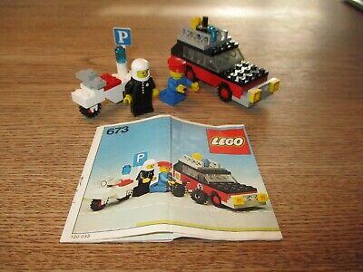 LEGO DENMARK-VINTAGE SET NO 673 - RALLY CAR + MOTORCYCLE -1970's.
