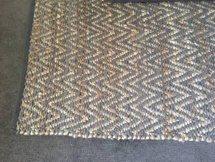 West Elm herringbone rug - jute/chenille