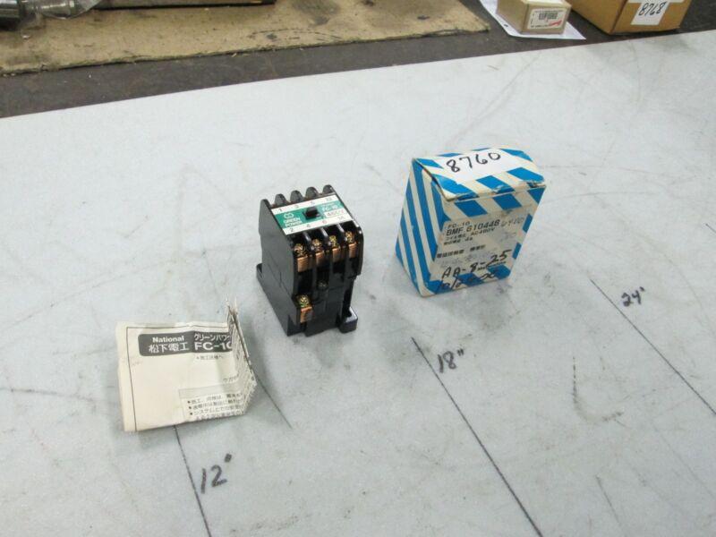 Matsushita Magnetic Contactor Cat #BMF6-10 Type FC-10 Coil 480V 50/60 Hz (NIB)