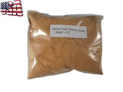 Glass Polishing Cerium Oxide Powder  4 or 8 Oz ,High Grade Optical (Glasses Polishing)