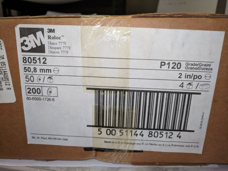 """3M 051144-80512 2"""" P120 GRIT ABRASIVE DISC New in Box"""