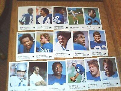 16 Card Team Set 1982 Seattle SEAHAWKS